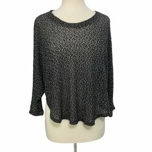 Staring At Stars Open Knit Cropped Sweater Top